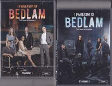 4 Dvd x 2 Box Cofanetto I FANTASMI DI BEDLAM ~ STAGIONE 01 + 02 serie completa