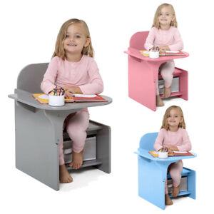 2 in 1 Children Chair Desk with Storage Bin Arts Craft Snack Toddler Kids Mysize