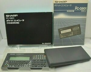 SHARP Pocket computer PC G801 Function Calculator Tested Examined vintage