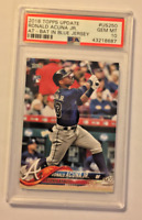 2018 Topps Update Series Baseball Ronald Acuna Jr At Bat RC PSA 10 GEM MT Braves