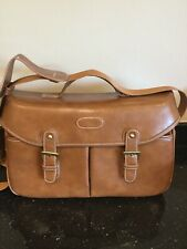 Camera Bag Shoulder Strap Excellent Condition Tan Faux Leather Camera Case