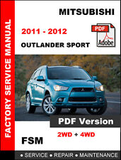 MITSUBISHI 2011 2012 OUTLANDER SPORT OEM SERVICE REPAIR MANUAL + CIRCUIT DIAGRAM