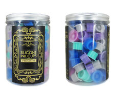 100pcs #12 Silicone Ink CUPS Self Standing Suction Tattoo Ink Pigment Holder Cap