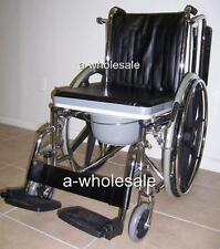 3-in-1 Portable Self-Transporting Wheelchair With Commode & Showering Functions