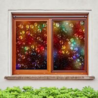 3D Water Drops O216 Window Film Print Sticker Cling Stained Glass UV Block Am