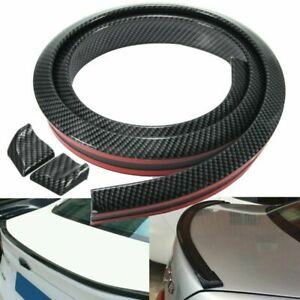 4.9ft/1.5M Flexible Car Rear Roof Lip Spoiler Lip Wing Trim Sticker Carbon Fiber
