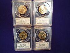 2007 P & D Positions A & B PCGS MS66   FDI  John Adams Dollar 4 Coin Set