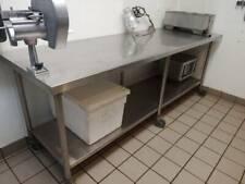 Restaurant Equipment Stainless Steel Kitchen Preparation Table 30x96 W Casters