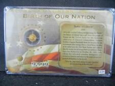 0.5 Grams 14k Gold Birth of Our Nation Gold Coin Lot 33Y