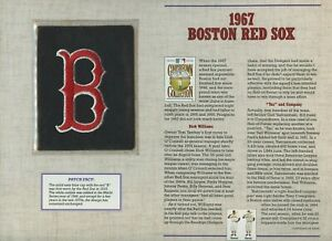 """1991 Cooperstown Collection Patches """"1967 Boston Red Sox"""" !!!!"""