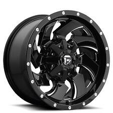 """Off Road 17"""" Fuel Wheels D574 Cleaver Black Rims"""