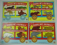 Vintage Nabisco Barnum's Animals Animal Crackers Puzzle lot of 4 by Cadaco
