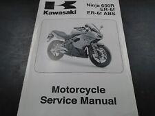 Kawasaki Ninja 650/650 ABS ER-6f/Abs OEM Shop Service Manual P/N 99924-1419-01