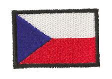 Petit patch patche écusson thermocollant Rép. Tchèque Tchequie 45 x 30 mm
