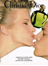 PUBLICITE ADVERTISING 025  1994   DIOR   pour femme   TENDRE POISON