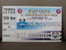 TICKET : OSIJEK NK - RSC ANDERLECHT 11-08-1998 UEFA CUP