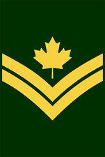 "5"" master corporal canada canadian army ssi helmet car bumper decal sticker"