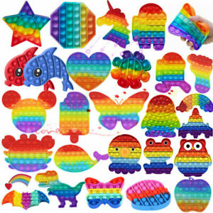 It Bubble Sensory Figit Fidget Kids Adult Toys Rainbow Autism ADHD Stress Relief