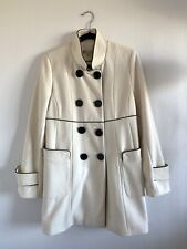 American Rag Womens Ivory 3/4 Wool Coat Size Medium