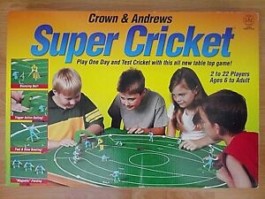 Super Cricket Game - Crown & Andrews - Play One Day + Test Cricket - Complete