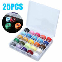 25pcs Sewing Thread Set with Plastic Bobbins Sewing Machine Spools Case.