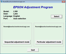 Reset Waste Ink Pad Epson L380 - Delivery Email