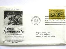 August 31st, 1962 25th Anniversary National Apprenticeship Act First Day Issue