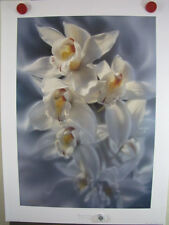 "Collin Bogle ""Fleur de Grace""  #25/999 White Orchid Flowers Bouquet Botanical"