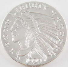1/4 oz Incuse Indian Silver Round