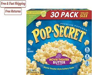 Pop Secret Microwave Popcorn, Movie Theater Butter, 3 Oz, 30 Ct