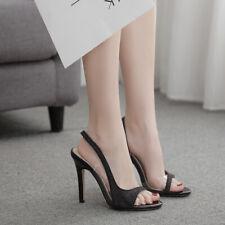 Womens Sexy Sequin Open Toe Slingbacks High Heels Stilettos Fashion Sandals HOT