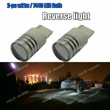 2-pc HID White High Power CREE LED Reverse Backup Light Bulbs 7440 7444 T20 2B