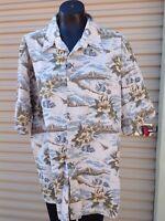 Pierre Cardin Men's Hawaiian Shirt Casual Cotton size XXL  Tropical Fish/flower