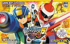 Used Game boy Advance ROCKMAN EXE 5 Megaman Battle Network Team of Blues Japan、