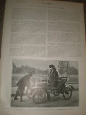 Printed photo la Belle Otero in her 6 HP De Dion motor car 1903 ref Z