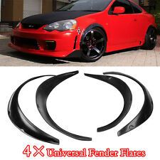 4PCS Flexible Black Polyurethane Car Automobile Exterior Fender Flares Solid
