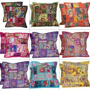 Cushion Cover 16 inch Decorative Embroidery Boho Moroccan Patchwork Pillow Case