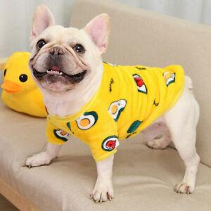 Spring Warm Fleece Pet Small Dog Sweater Pajamas Cartoon Puppy Cat Coat Clothes