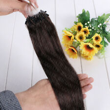 "Micro Loop Ring Bead Human Hair Extensions black brown blonde 16""-26"" Full ombre"
