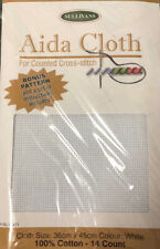 Sullivans 14 Count White Aida cloth PRECUT To 36cm X 45cm Cross Stitch