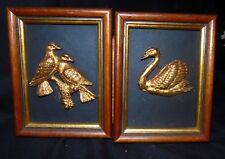 ARTISTIC CONCEPTS 24 CARAT GOLD PLATED MINIATURE SCULPTURE FRAMED x 2