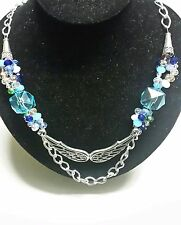 Women's Beautiful and Unique Handmade Skyblue Necklace