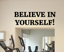 Motivational Gym Wall Decal Sport Fitness Quote Vinyl Sticker Decor Mural 75fit