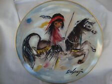 """DeGrazia 'Merry Little Indian' Collector Plate 10.25"""" # 2729 Lim Edition Mint"""