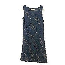 Speechless Lace Ruffle Embellished Shift Dress Black Sleeveless Girl's Size 14