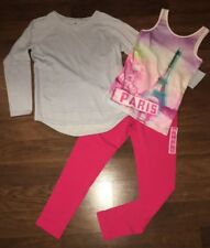 Girls clothes size 14-16 new leggings and pullover, with tee shirt~s12~worn once