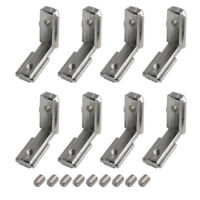 20X L Shape Joint Angle Bracket Corner Connector For 6mm T Slot Aluminum Profile