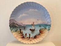 PORCELAINE LIMOGES PLAT PEINT XIXEME décor PAYSAGE  Quick Shipment Worldwide