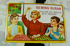 Vtg Sewing Needles Sewing Susan Lot of 7 sets1960s Brand new
