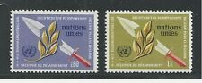 United Nations, Geneva # 35-36 Mnh 1973 25Th Anniversary Human Rights, Flame